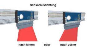 Modul PTF-L-5 grafische Darstellung der Sensorausrichtung