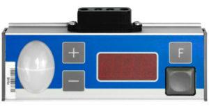 Position du pointeur LED au-dessus de l'affichage du compartiment