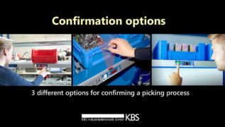 video 3 different options for confirming a picking process